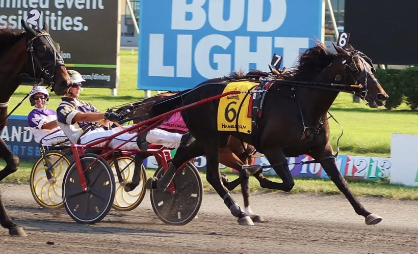 Raymond Lance | Forbidden Trade (McClure) fought off overwhelming favorite Greenshoe at the wire to win the 94th Hambletonian by a neck.