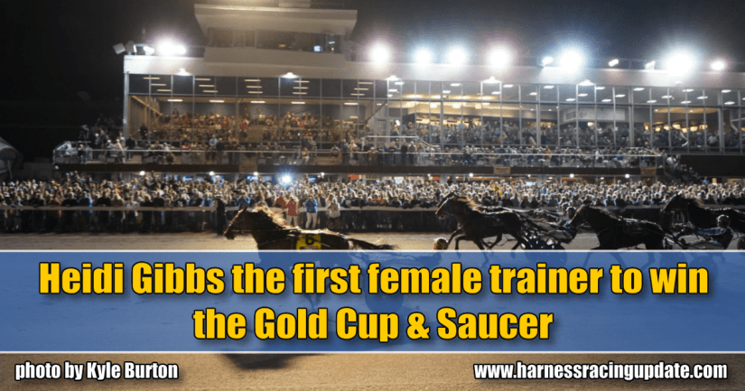 Heidi Gibbs the first female trainer to win the Gold Cup & Saucer