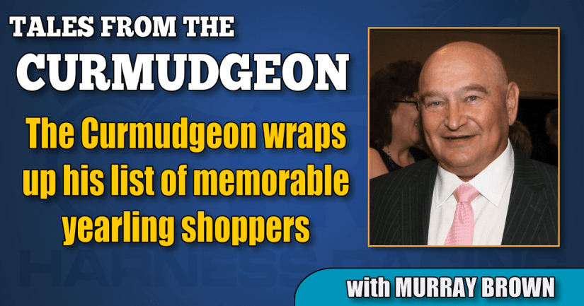 The Curmudgeon wraps up his list of memorable yearling shoppers