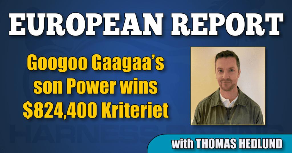 Googoo Gaagaa's son Power wins $824,400 Kriteriet
