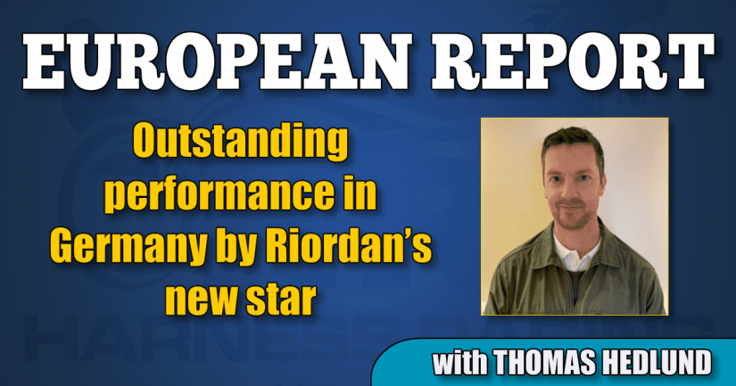 Outstanding performance in Germany by Riordan's new star