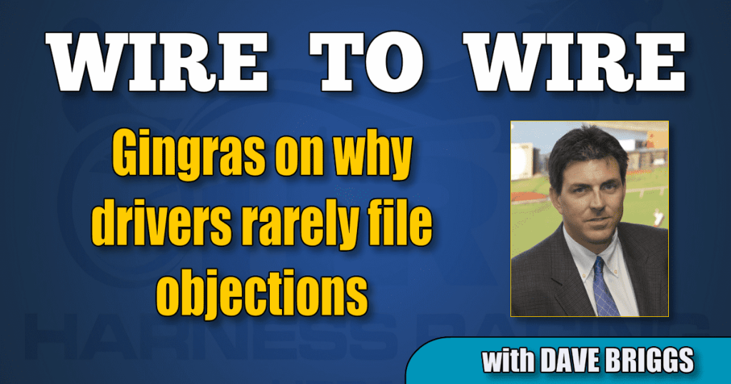 Gingras on why drivers rarely file objections