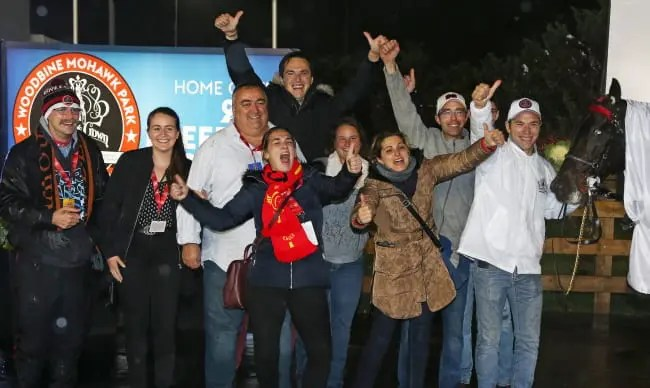 Claus Andersen   It was a joyous winner's circle for Bold Eagles connections.