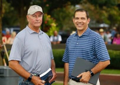 Dave Landry   Kentuckiana Farms' Bob Brady and Ken Jackson.