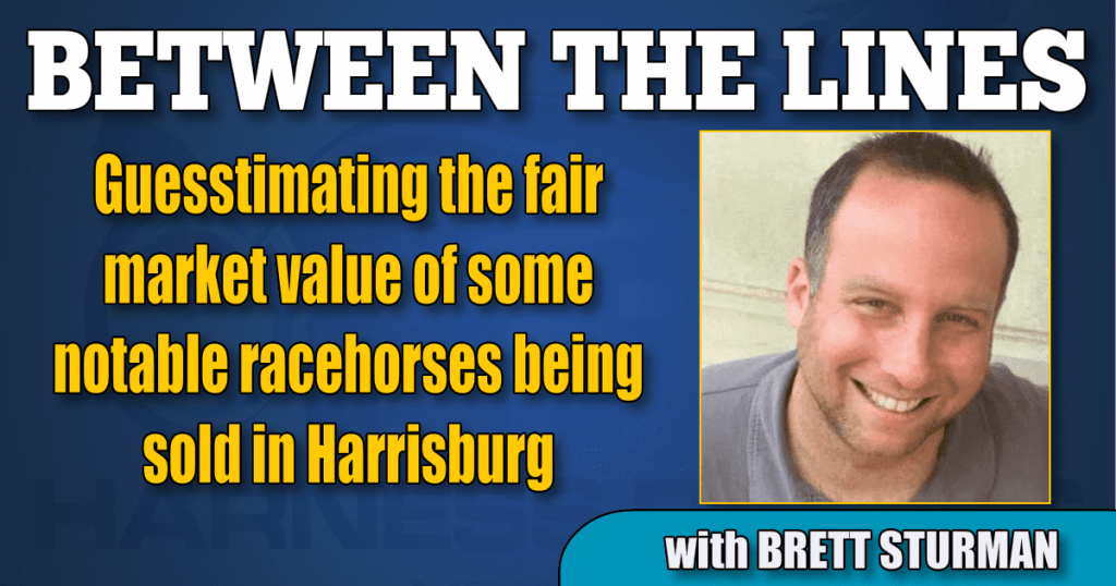 Guesstimating the fair market value of some notable racehorses being sold in Harrisburg