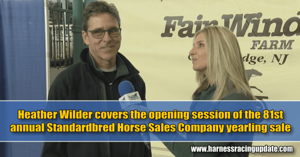 Heather Wilder covers the opening session of the 81st annual Standardbred Horse Sales Company yearling sale