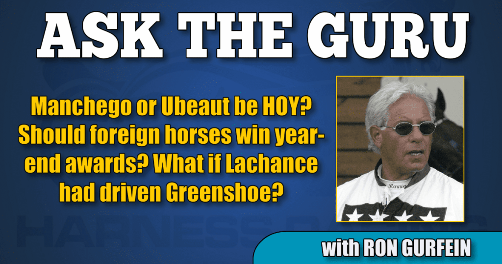 Manchego or Ubeaut be HOY? Should foreign horses win year-end awards? What if Lachance had driven Greenshoe?