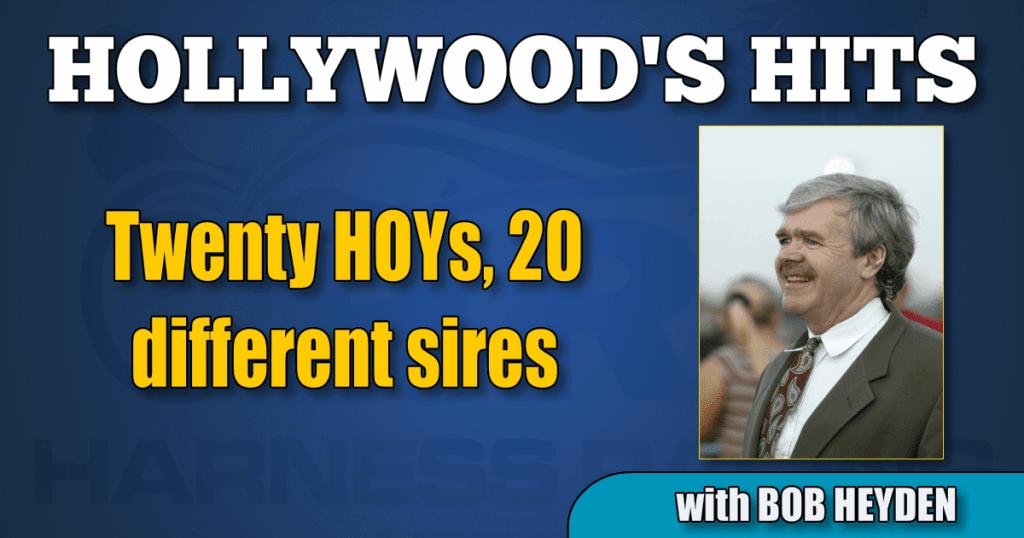 Twenty HOYs, 20 different sires