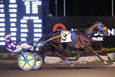 New Image Media | Trainer Casie Coleman said her favorite of McWicked's many career highlights was this victory, with David Miller, in the 2018 Canadian Pacing Derby.