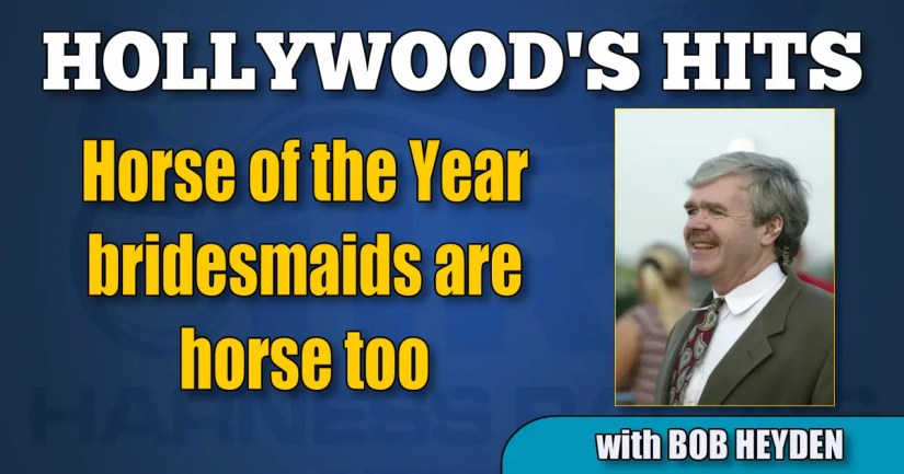 Horse of the Year bridesmaids are horse too