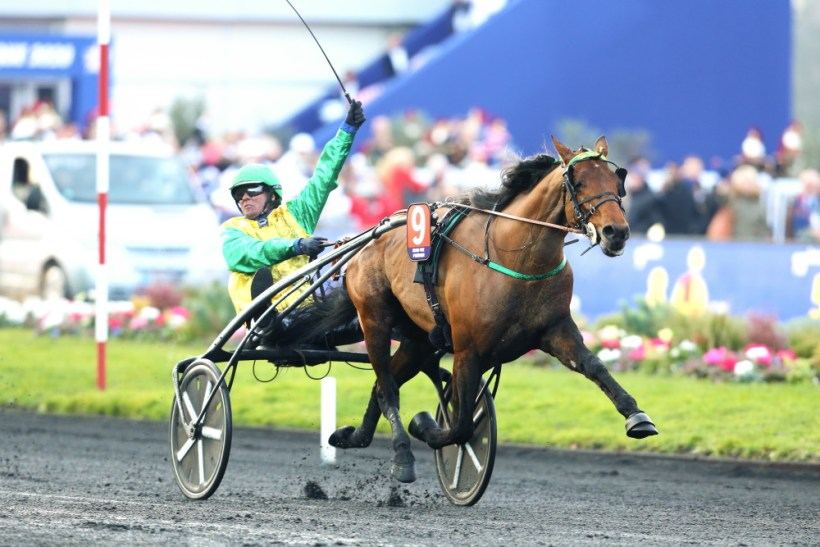 Gerard Forni   Goop piloted Face Time Bourbon to victory in a mile rate of 1:55 over 1.6 miles in the $992,000 French classic.