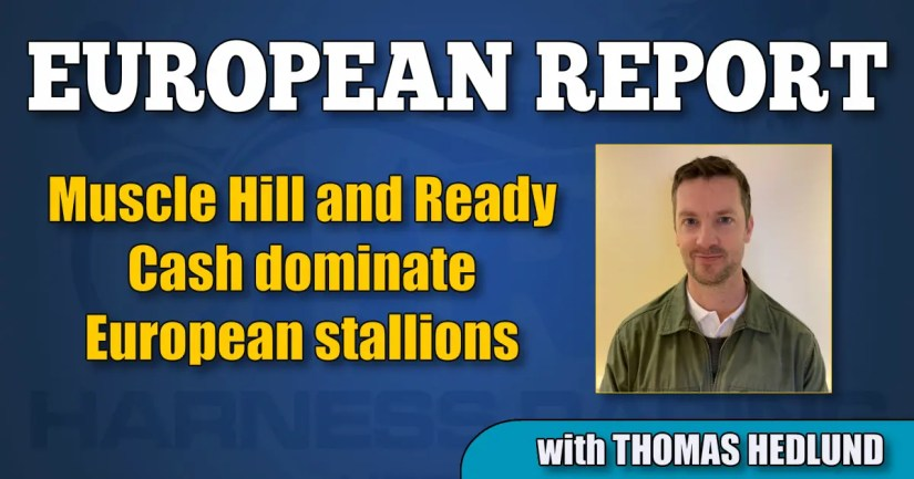 Muscle Hill and Ready Cash dominate European stallions