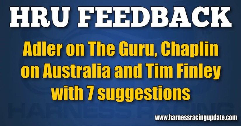 Adler on The Guru, Chaplin on Australia and Tim Finley with 7 suggestions