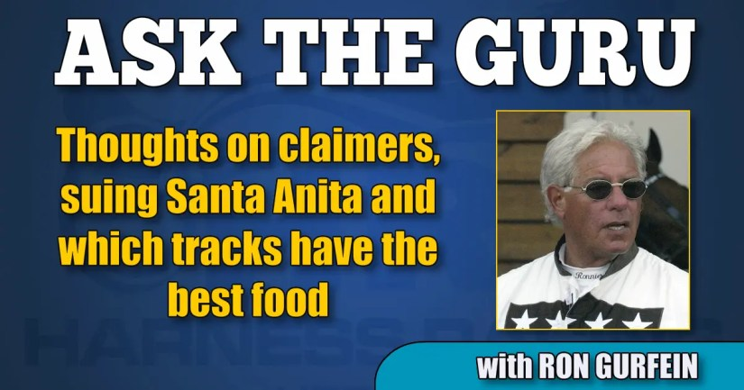 Thoughts on claimers, suing Santa Anita and which tracks have the best food