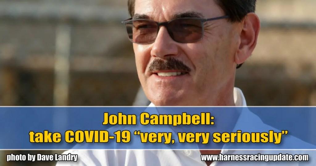 "John Campbell: take COVID-19 ""very, very seriously"""