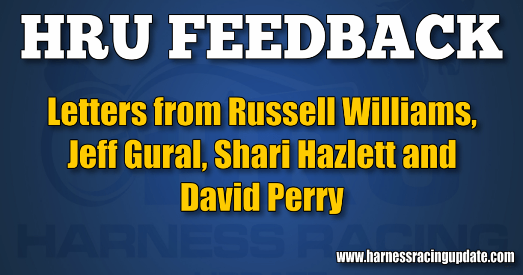 Letters from Russell Williams, Jeff Gural, Shari Hazlett and David Perry