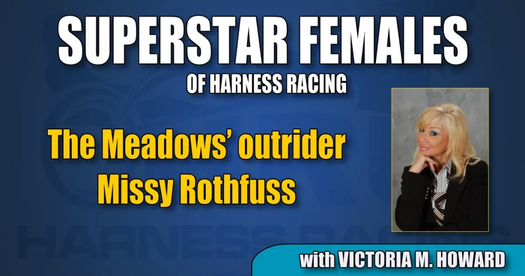 The Meadows' outrider Missy Rothfuss