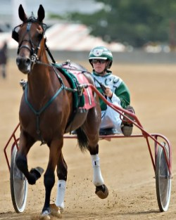 Dean Gillette | Trainer Cassidy Whitton and Hotel Whiskey's dam LW Jaynie Flyer racing at the Indiana State Fair in 2008.