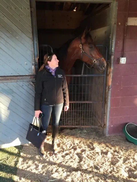 Courtesy Elizabeth Caldwell | Elizabeth Caldwell with Always B Miki on the day he set the 1:46 world record in Lexington.