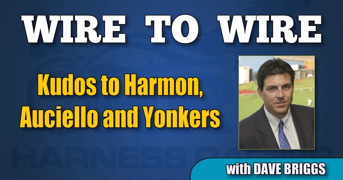 Kudos to Harmon, Auciello and Yonkers
