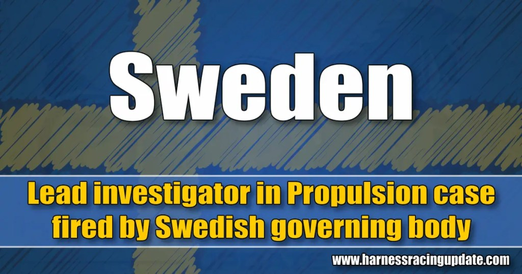 Lead investigator in Propulsion case fired by Swedish governing body