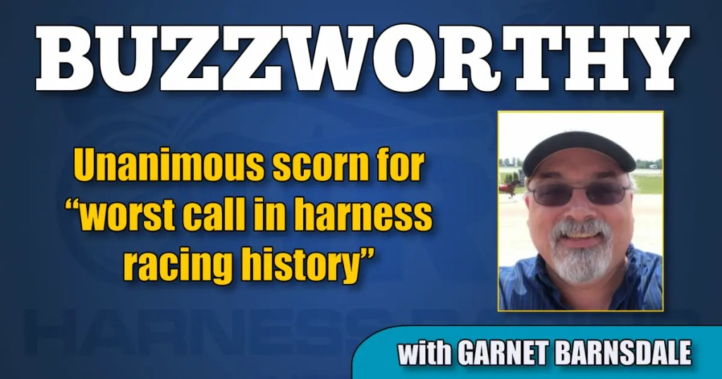 """Unanimous scorn for """"worst call in harness racing history"""""""