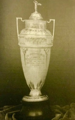 The trophy for the first Hambletonian.