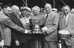 Courtesy Hambletonian Society   When the author was stabled at Meadow Run Farm in southern New Jersey, Harry Harvey (who won the 1953 Hambletonian with Helicopter) told him how much he admired his Buick Special convertible.