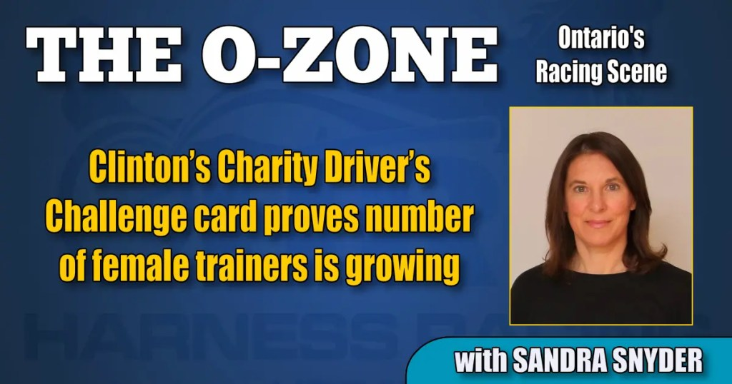 Clinton's Charity Driver's Challenge card proves number of female trainers is growing