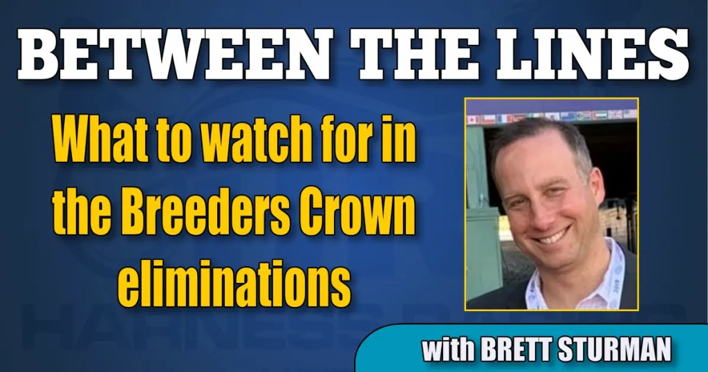 What to watch for in the Breeders Crown eliminations