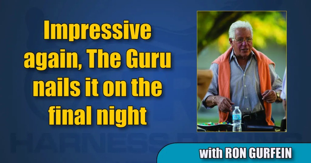 Impressive again, The Guru nails it on the final night