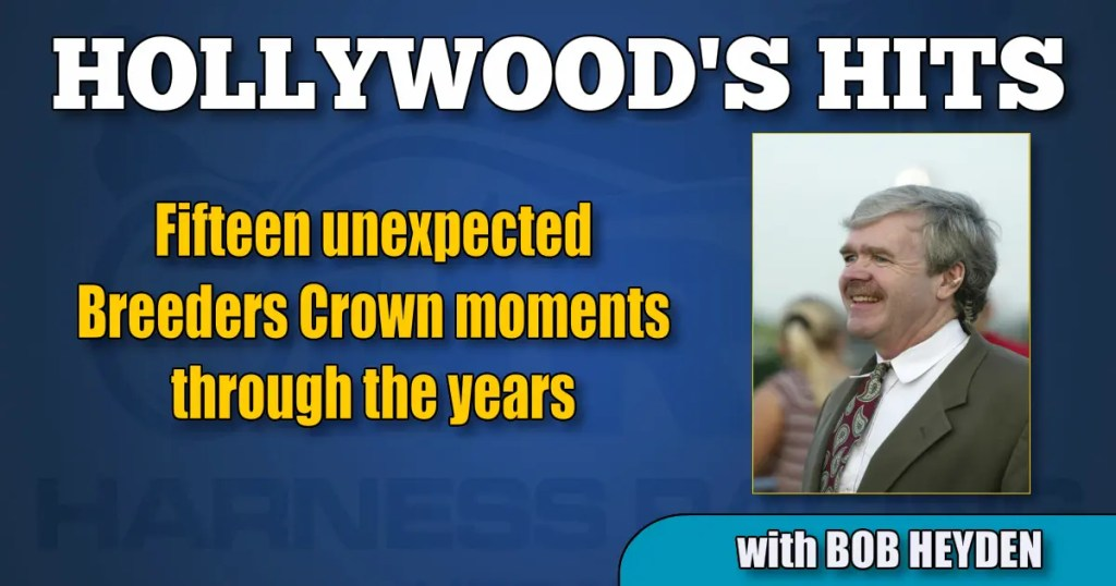 Fifteen unexpected Breeders Crown moments through the years