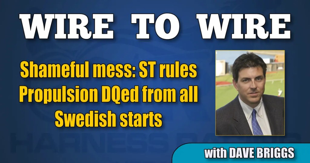 Shameful mess: ST rules Propulsion DQed from all Swedish starts