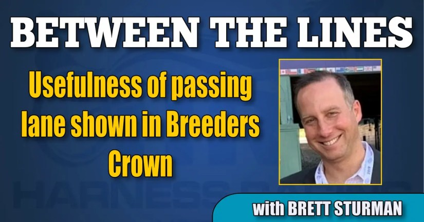 Usefulness of passing lane shown in Breeders Crown