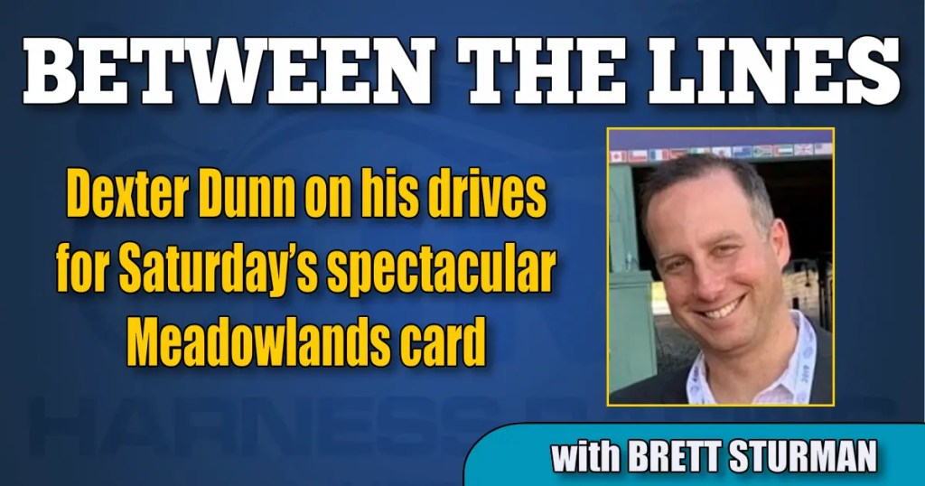 Dexter Dunn on his drives for Saturday's spectacular Meadowlands card