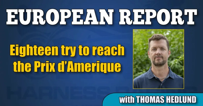 Eighteen try to reach the Prix d'Amerique
