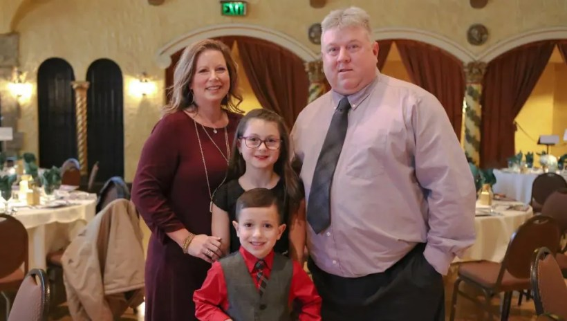 Dean Gillette | The Barnes family — Jessica and Brian with their children Haylee and Dylan.