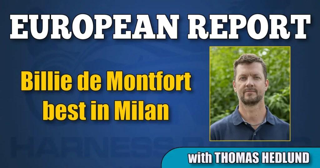Billie de Montfort best in Milan