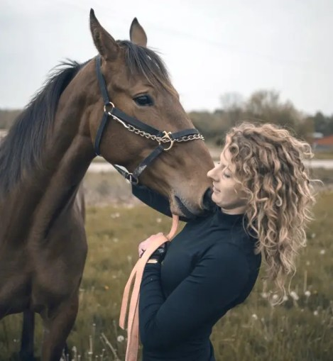 """Courtesy Lexi Sarkine   Sarkine said she develops a bond with all her horses. """"Every one is different, but every one is special."""""""