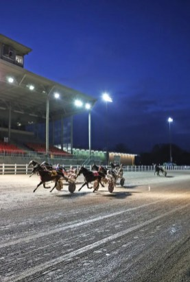 Claus Andersen | It was a muddy night, but Ontario drivers and The Raceway at The Western Fair District raised $5,700 Sunday (Dec. 20) for Toys for Tots.