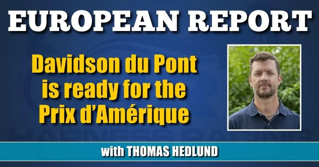 Davidson du Pont is ready for the Prix d'Amérique