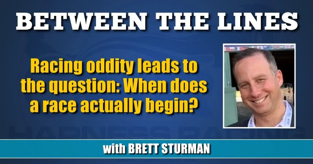 Racing oddity leads to the question: When does a race actually begin?