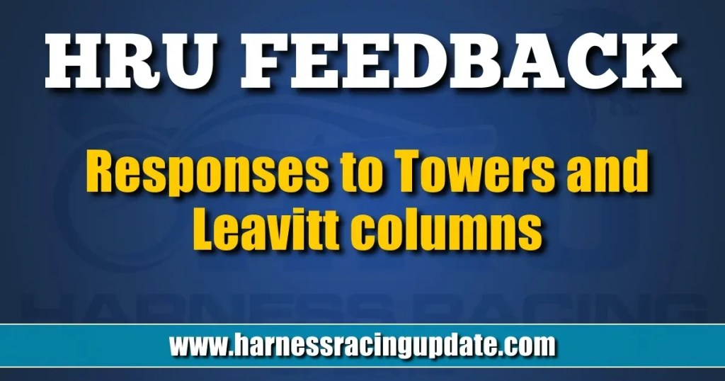 Responses to Towers and Leavitt columns