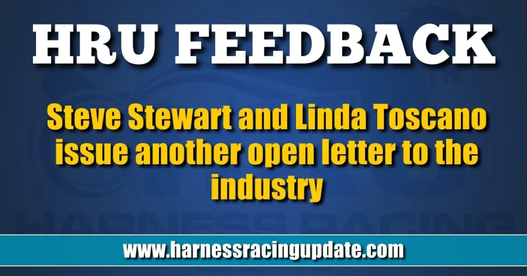 Steve Stewart and Linda Toscano issue another open letter to the industry