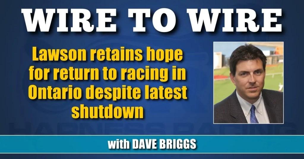 Lawson retains hope for return to racing in Ontario despite latest shutdown