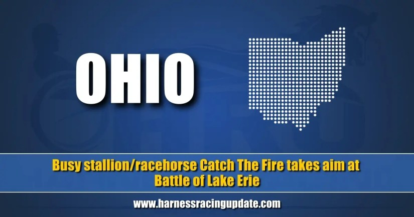 Busy stallion/racehorse Catch The Fire takes aim at Battle of Lake Erie