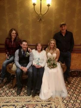 Courtesy Kathy Cecchin   From left: Kathy Cecchin, Paul Davies, Paul's mother Joanne Davies, Nikki Davies and John Cecchin.