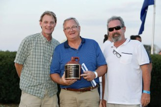Dave Landry   Bell (left, with Joe Thomson and Jimmy Ladwig) said winning the 2018 Little Brown Jug with Winbak's Courtly Choice was a career highlight.