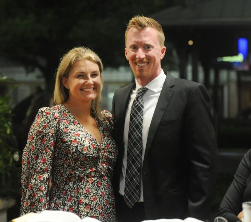 Adam Ström Leading buyer Nancy Takter and Adam Bowden of Diamond Creek, the farm that sold the sale topper and finished as the sale's fourth leading consignor by gross sales.