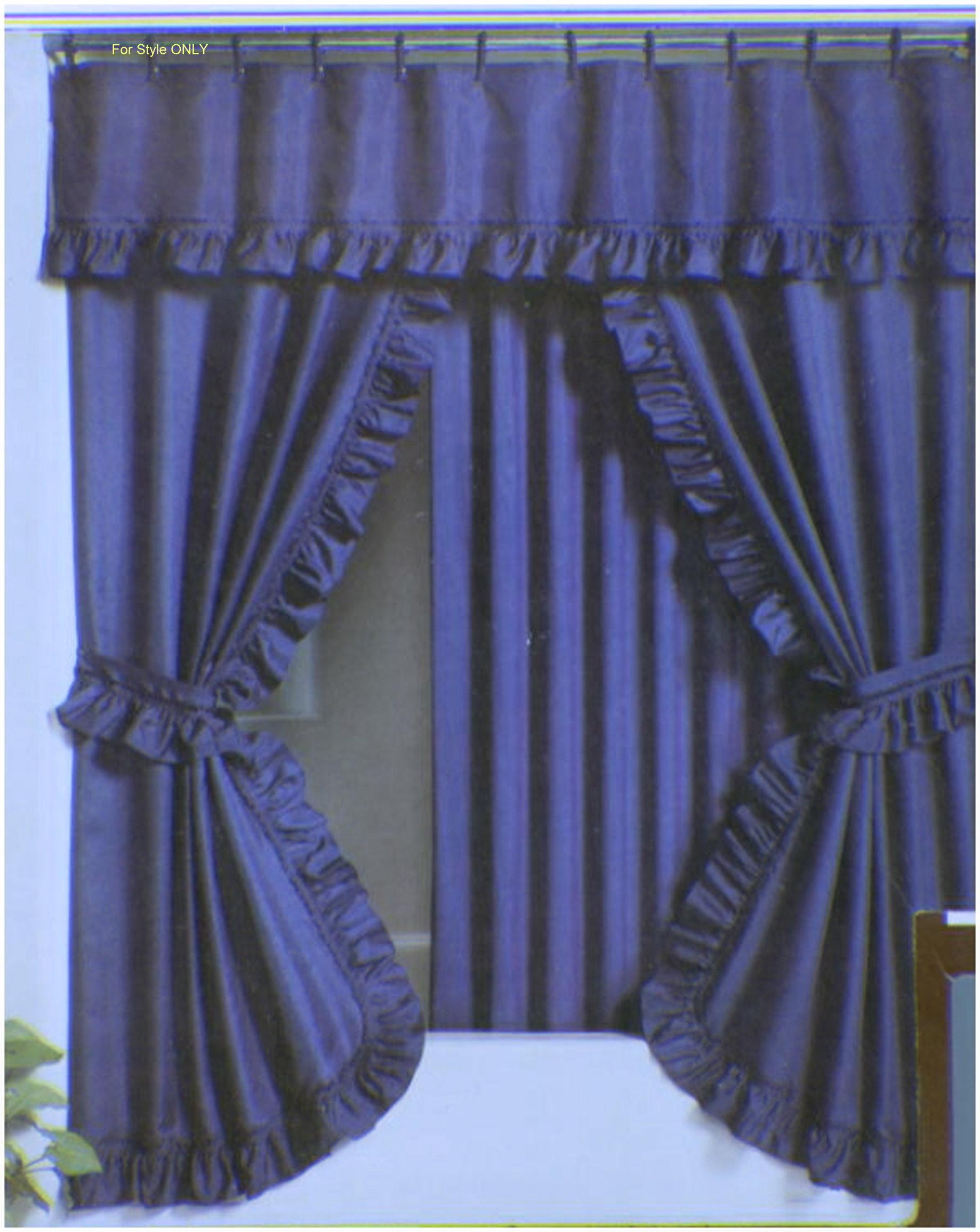 Splendor Double Swag Shower Curtain